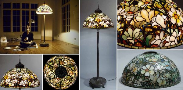 The 28 Magnolia Tiffany lamp